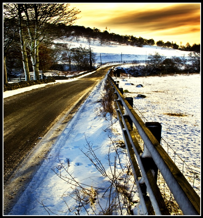 photoblog image Road from Glen Esk